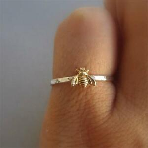 Unique-Gift-Charm-Cute-Bee-Finger-Ring-Insect-Pattern-Charm-Jewelry-Gold-Plated