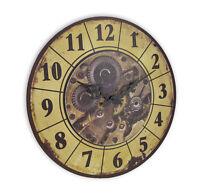 Steampunk Gear Art Wall Clock Rustic Vintage Style Victorian Home Bar Decor