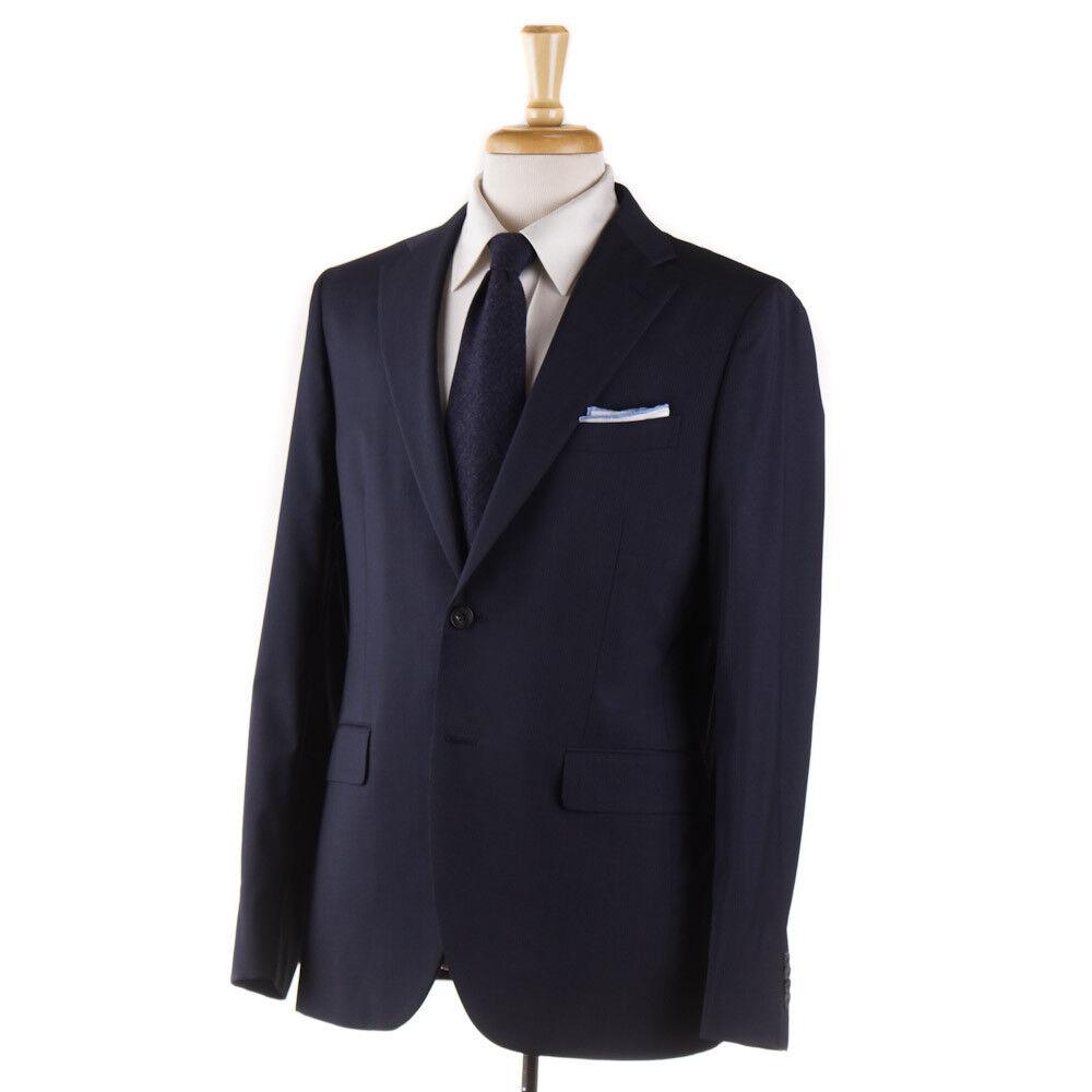 NWT 1625 BOGLIOLI Slim-Fit Navy Blau Fine Stripe Wool Suit 44 R (Eu 54)