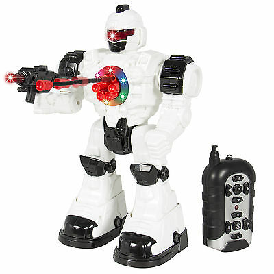 BCP RC Walking and Shooting Robot Toy - White/Black