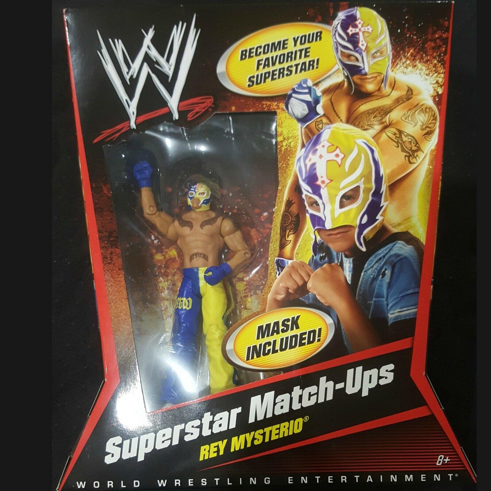 WWE ORIGINAL SUPERSTAR MATCH UPS - REY MYSTERIO BRAND NEW IN BOX 2010 w MASK