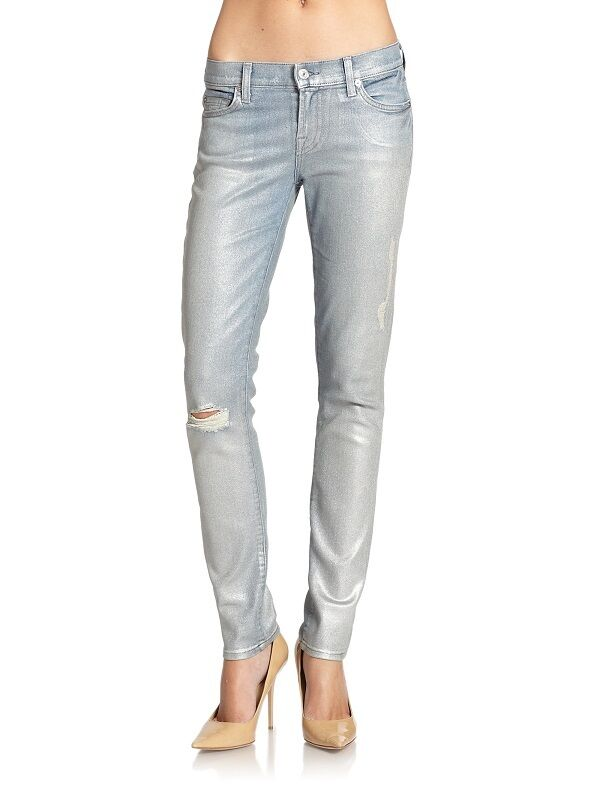 7 For All Mankind Blaue Perle der Slim Zigaretten Jeans Hose Nwts 29 8