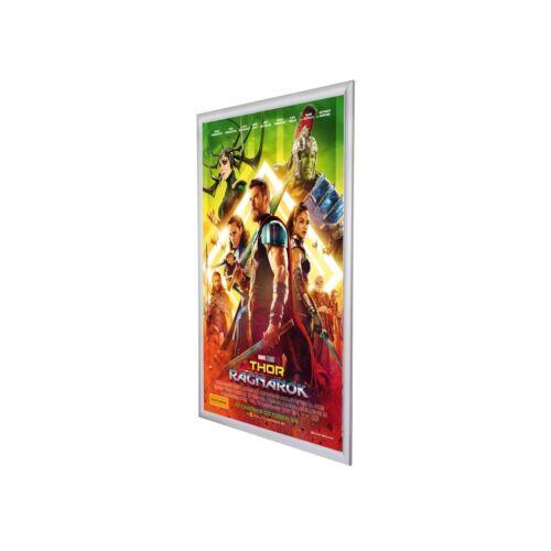 """argent en aluminium 1.2/"""" profil Snapezo Movie Poster Cadre 27x40 pouces ... Avant"""