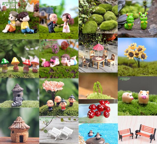Pink /& Red Closeout!Dollhouse Miniature Fairy Garden Artisan Micro Umbrella Set
