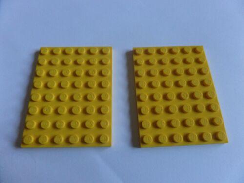 2x Lego 3036 Platte 6x8 gelb yellow gebraucht 4552333