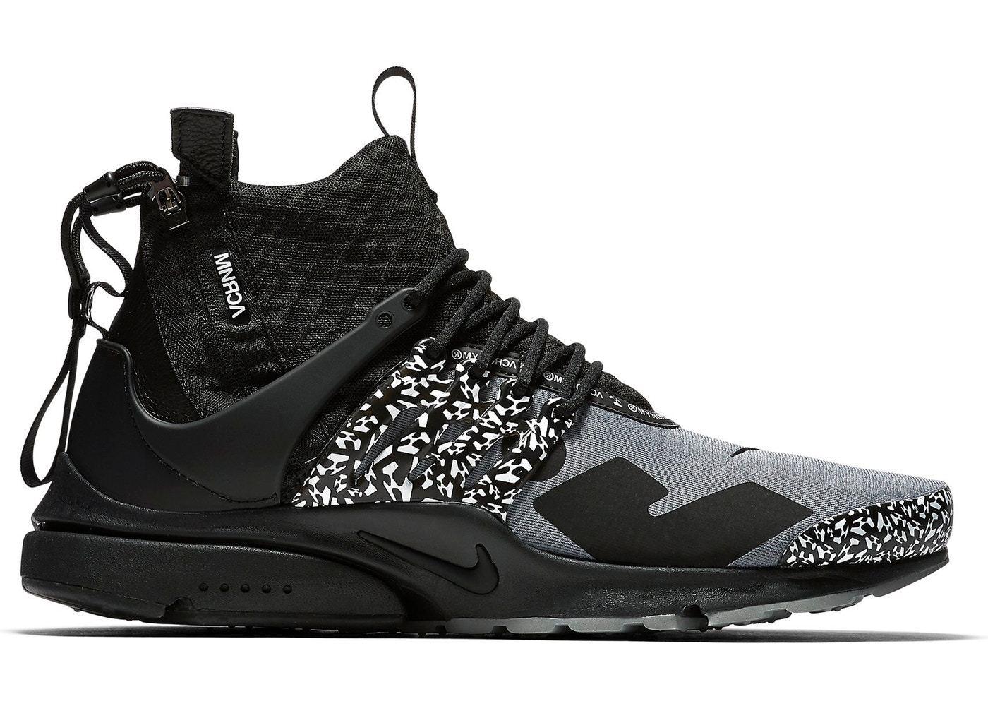 e9c2537ce27581 Nike DS Air Presto Mid Acronym Acronym Acronym NRG AH7832-001 Cool Grey  Black Limited