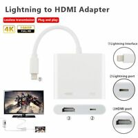Lightning To Hdmi Hdtv Av Tv Cable Adapter For Iphone 6 7 Plus Ipad Air Mini Pro