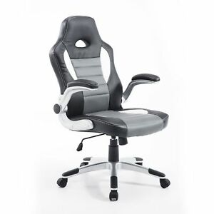 Racing-Car-Office-Chair-Swivel-Excutive-Computer-Gaming-Chair-w-Armrest