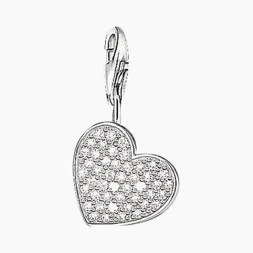 Genuine Thomas Sabo Charm -   CZ DANGLING  HEART , 0698-051-14, RRP 129