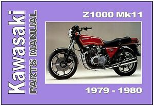 Details about KAWASAKI Parts Manual KZ1000 Z1000 ROW MKII 1979 1980  Replacement Spares Catalog