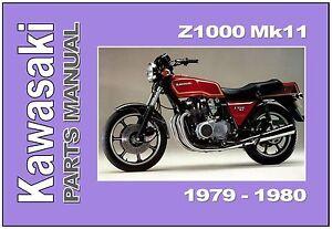 kawasaki parts manual kz1000 z1000 row mkii 1979 1980 replacement rh ebay com 2016 Z1000 2018 Z1000