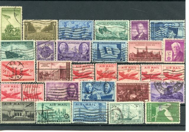 USA 1945-1947 Used Stamps Collection