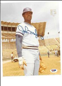 John Mayberry Autograph / Signed 8 X 10 Photo Kansas City Royals PSA/DNA