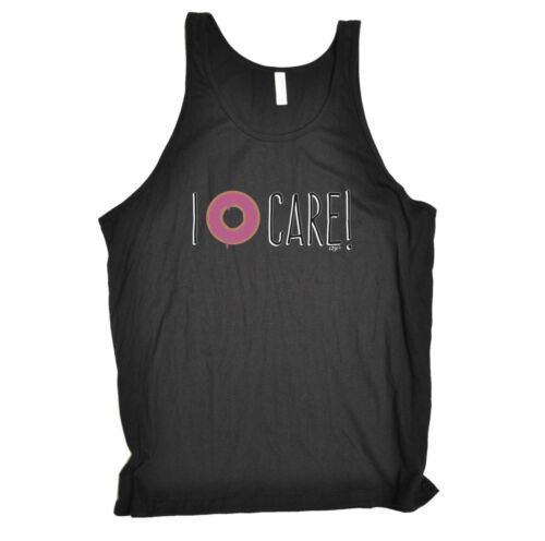 I Donut Care Funny Novelty Vest Singlet Top