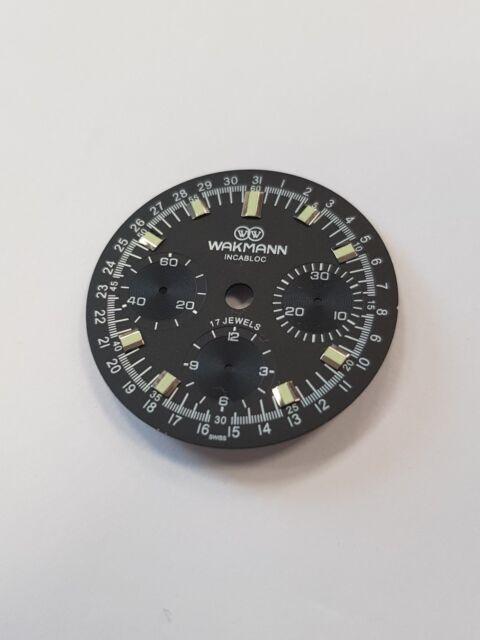 Wakmann watch dial for ETA Valjoux 72 swiss made movement - never used xx!!xx