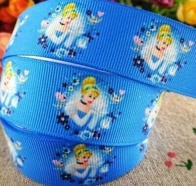 "1/"" 2 YARDS Princess Cinderella Grosgrain Ribbon Bows Scrapbooks DIY Crafts Cards"