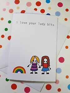 I love your lady bits lesbian adult greeting card rude offensive image is loading 039 i love your lady bits 039 lesbian m4hsunfo