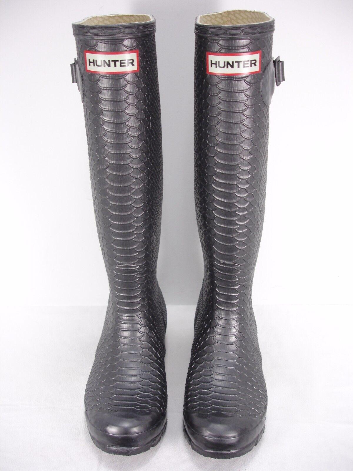 Hunter Carnaby Boa Peltre Serpiente Serpiente Serpiente en Relieve De Alto De Goma Botas de lluvia para mujer 5 64bd25