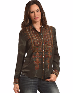 Button-Down-JOHNNY-WAS-Embroidered-Aztec-VALEA-Blouse-WORKSHOP-S-228