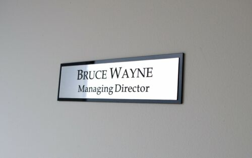 Name Plaque Office Contemporary Personalised Door Wall Custom Engraved Sign