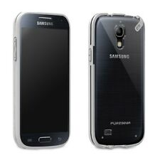 Puregear Samsung Galaxy S4 Mini Slim Shell Flexible Silicone Clear W/ Gray Trim