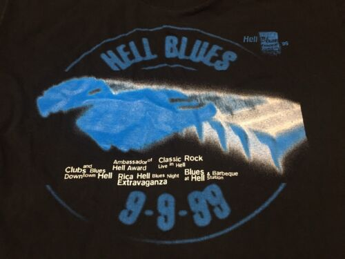 Hell Blues 99 Festival UK Medium T Shirt Roy Roger