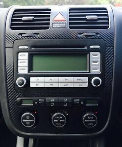 Details about Carbon Fibre effect climatronic dash + air vent sticker to  fit VW Golf Mk5 Jetta