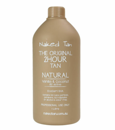 2 x Naked Tan Natural Solution 8% DHATTan Solution - 2hr wash'n'wear Tanned