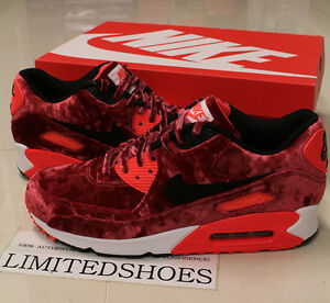 92cd41cca34dd1 NIKE AIR MAX 90 25TH ANNIVERSARY RED VELVET 725235-600 US 7 ~ 8.5 ...