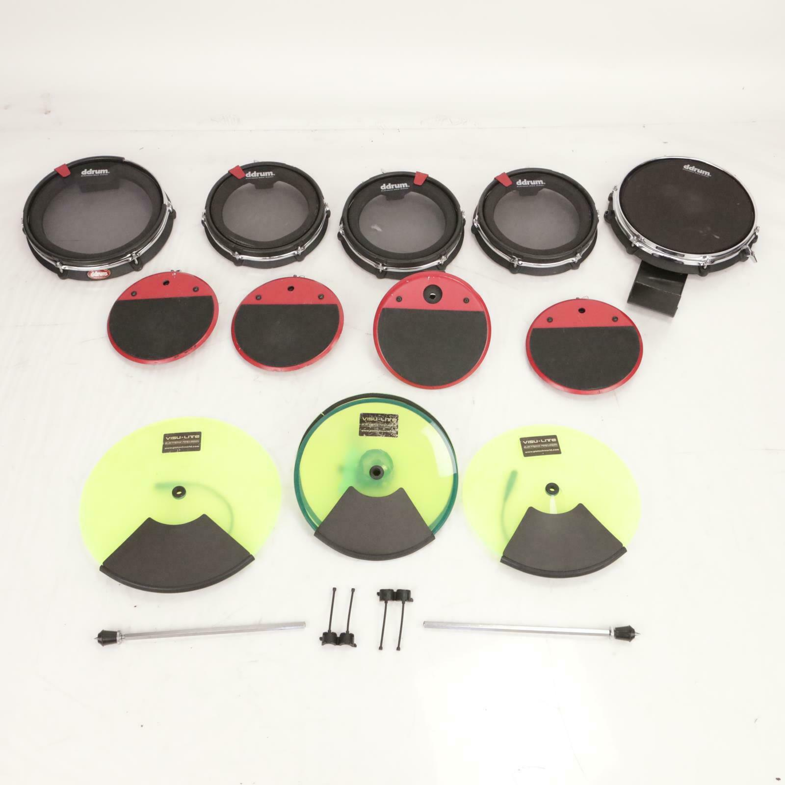 8 pc Clavia DDrum4 Cast Precision Mesh Electronic Drums Pintech Visu-lite  37180