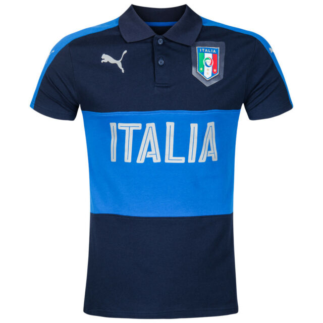Italien PUMA Casual Herren Polo-Shirt Fan Fußball Squadra Azzurra 748860 Hemd