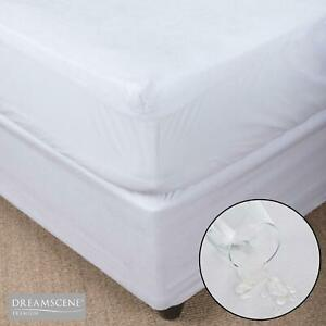 Dreamscene Waterproof Mattress Protector Fitted Sheet Cover Terry Towel All Size