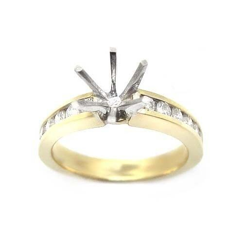 0.50 ROUND CUT DIAMOND ENGAGEMENT RING SETTING MOUNTING