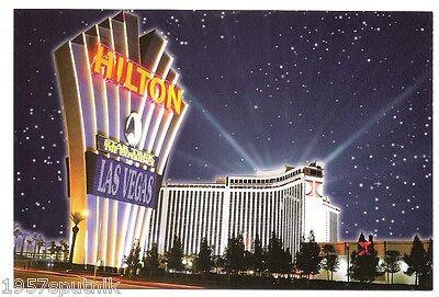 Las Vegas Hilton Night Star Trek Experience Neon vtg postcard CLOSED Casino NU u