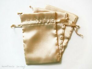 Details About 10 Satin Drawstring Bags Size 4x6 Inches For Favors Gifts Jewelry Pouches