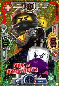 Lego® Ninjago™ Serie 3  Blister LE14 Cole vs Ultra Violet Limitierte Karte