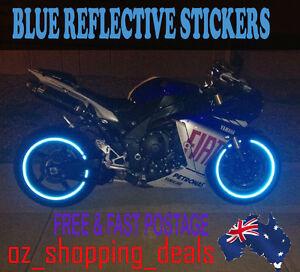 New rim stickers blue reflective tape 6mm 16 17 18 motorcycle image is loading new rim stickers blue reflective tape 6mm 16 aloadofball Gallery