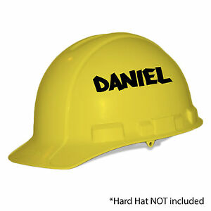 X Personalised Name Hard Hat Stickers Custom Safety Helmet Vinyl - Helmet custom vinyl stickers