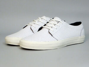 Vans-106-Vulcanized-CA-Leather-Micro-Perf-WHITE-Men-039-s-Size-8-5-NEW