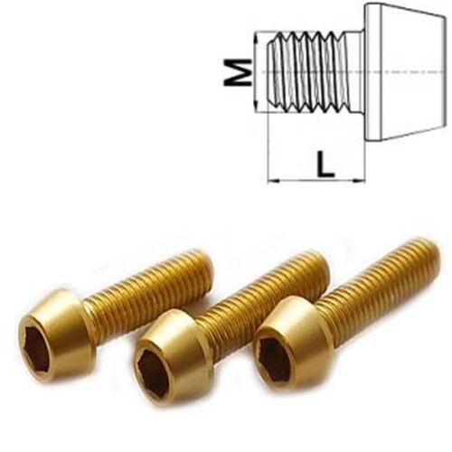 Aluminium Schraube M5 x 10 - 50 konisch DIN 912 Al7075 Gold