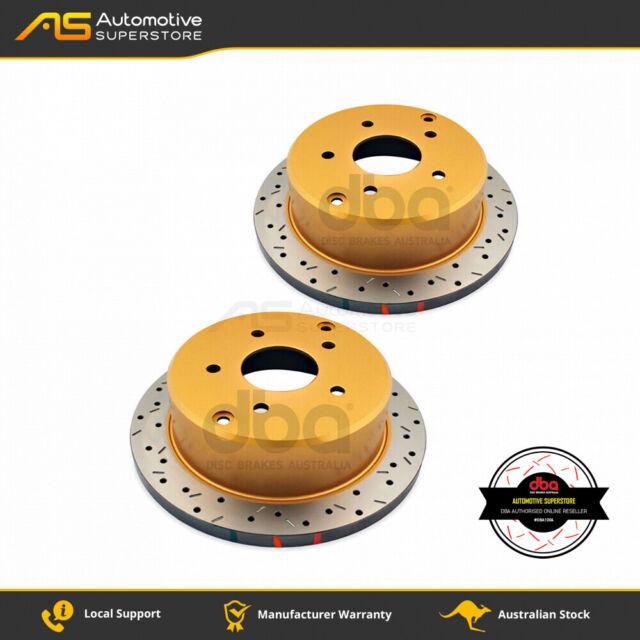 DBA4041XS Brake Disc Rotor Pair HD SERIES 4000 XS CROSS-DRILLED & Slotted DBA