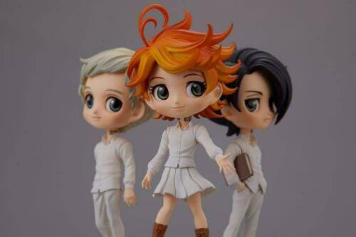 The Promised Neverland Q posket petit figure 3 set Emma Ray Norman Jump JAPAN
