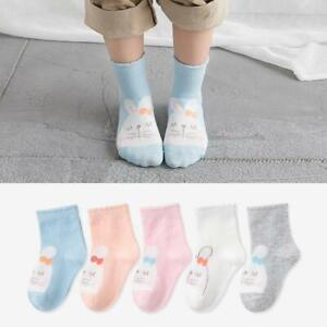 5-Pairs-Toddler-Girls-Socks-Bunny