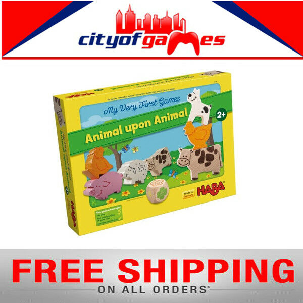 My Very First Games – Animal upon Animal Board Game New Free Shipping