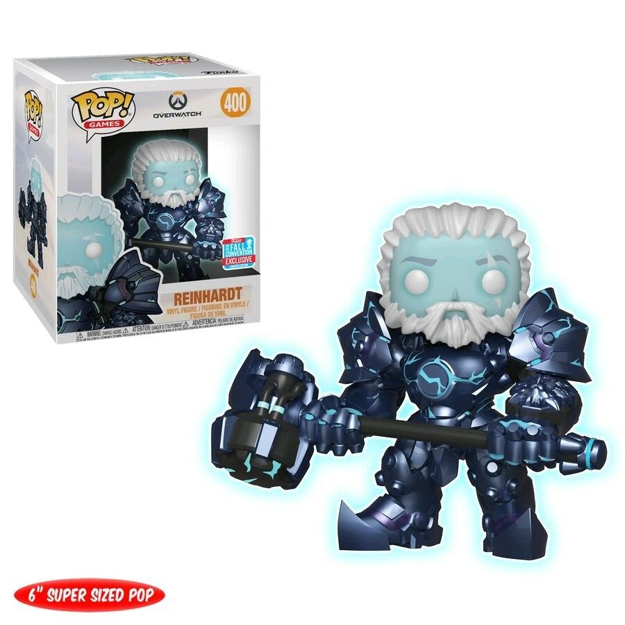 FUNKO POP OVERWATCH COLDHARDT REINHARDT 6  SUPER SIZED POP NYCC 2018 EXCLUSIVE
