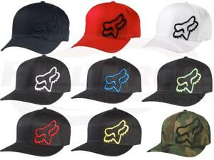 Fox Racing Mens Guys Flex 45 Hat Fox Head Logo Ball Cap Flexfit MX ... c5f55599bcd