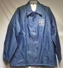 NOS Vtg Bethlehem Steel Jacket Windbreaker Navy Blue Men's Large Union Made USA