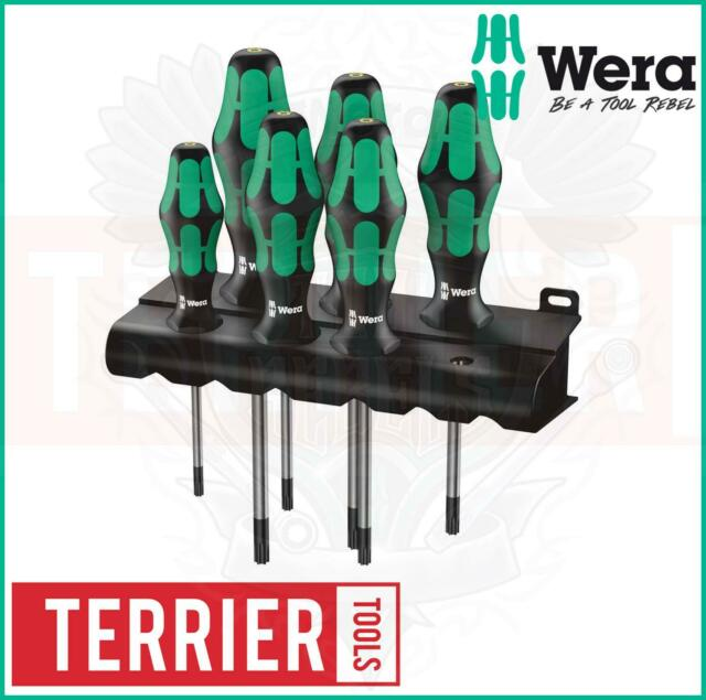 Wera 367/6 TORX® Bore Hole Kraftform Plus screwdriver set with rack, 6pc