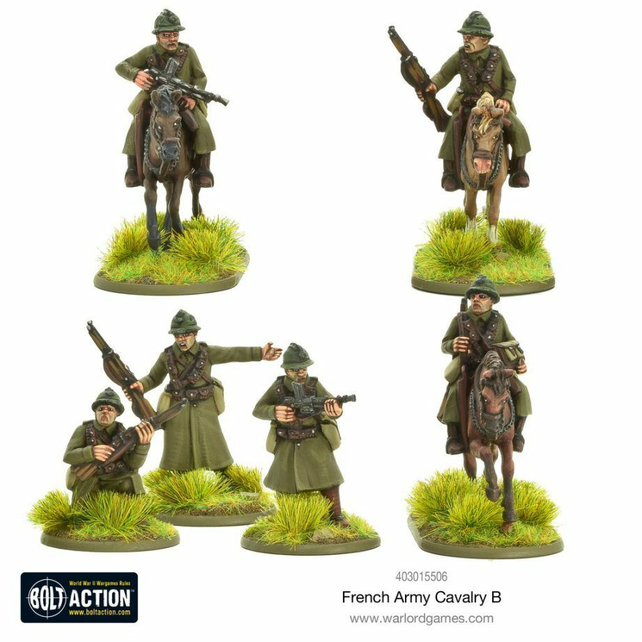 Warlord Games French Army Cavalry B 28mm Bolt Action WWII Cavalry France