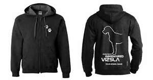 Dogeria Design. Vizsla Collectibles Imported From Abroad Hungarian Wirehaired Vizsla Full Zipped Dog Breed Hoodie
